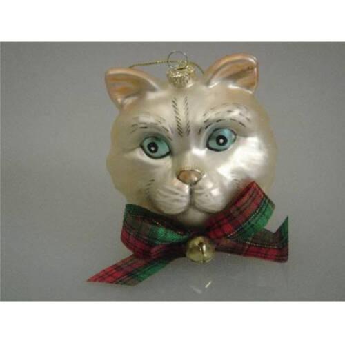 Ludibrium-Katzenkopf hellbeige mit blauen Augen
