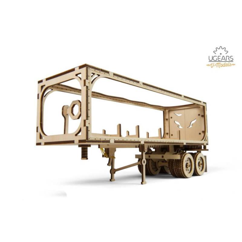UGEARS 70057 - Trailer zu Truck VM-03 - mechanischer Holzbausatz