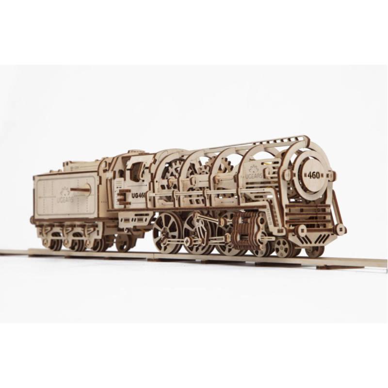 UGEARS 70058 - V-Express Dampflokomotive mit Tender