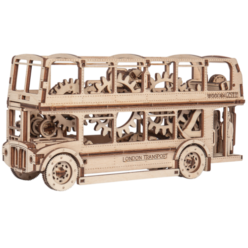 Ludibrium-Wooden.City - Londoner Doppeldeckerbus WR303 - Holzbausatz