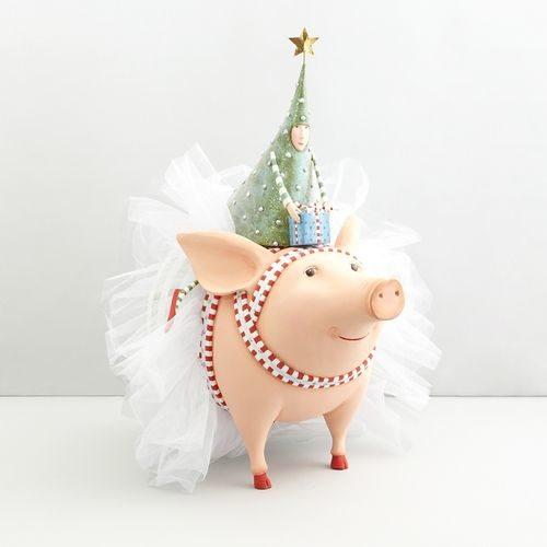 Krinkles - Joyful Pig Salz- und Pfefferstreuer