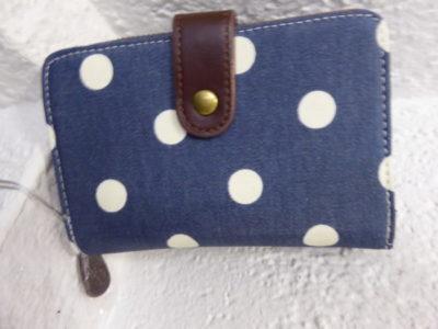 Candy Flowers - Portemonnaie S-156, jeansblau mit weissen Punkten