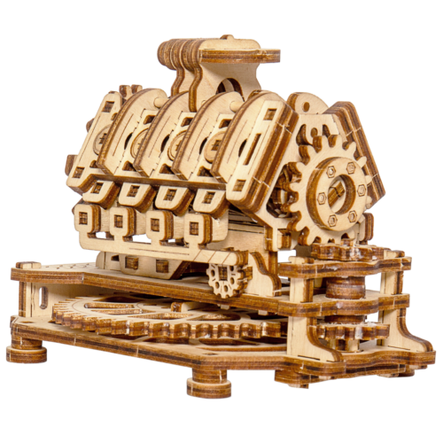 Ludibrium-Wooden.City - V8 Motor WR316 - Holzbausatz