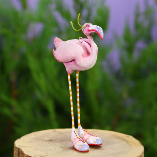 Ludibrium-Krinkles - Jambo Sheila Flamingo Mini Ornament