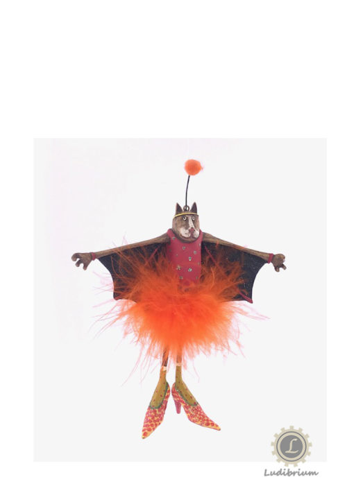 Bat Cat Sister Halloween Ornament