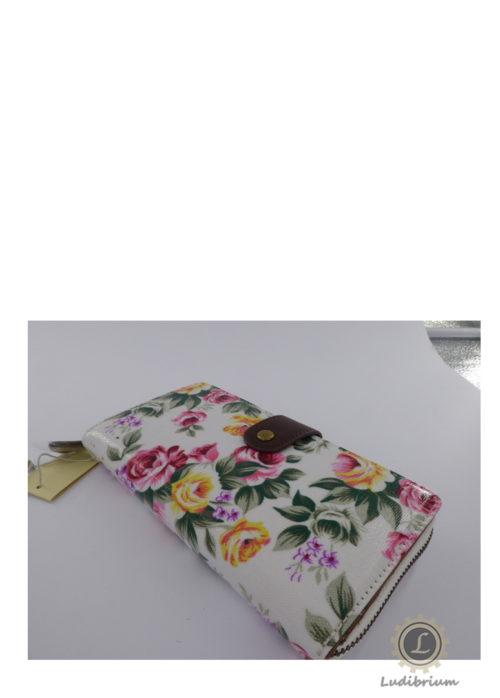 Tulip by Candy Flowers - Damen-Portemonnaie S155 - weiss mit Blumen