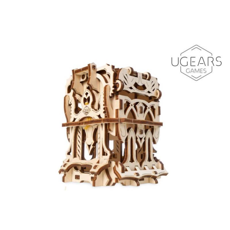 UGEARS Games 70068 - Karten-Halter - Gerätekit für Kartenspiele - mechanischer Holzbausatz