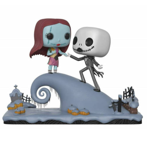 Ludibrium-Nightmare before Christmas - POP! Movie Moments Vinyl Wackelkopf Figuren 2er-Pack Jack und Sally 9 cm