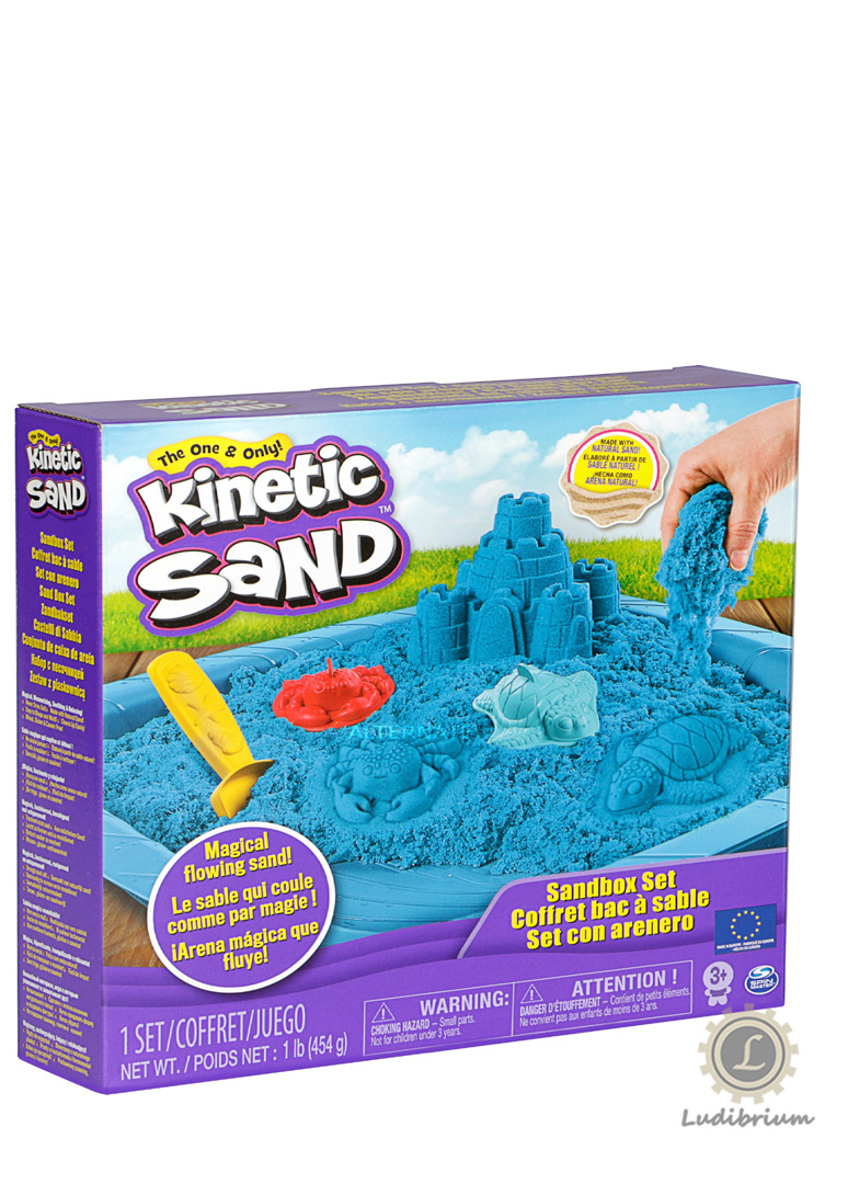Spin Master - Kinetic Sand Box Set blau, Spielsand