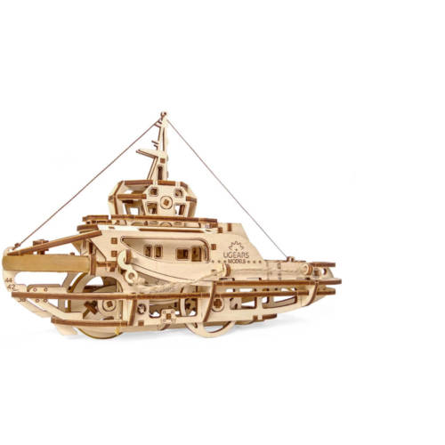 UGEARS 70078 - Schleppschiff - mechanischer Holzbausatz