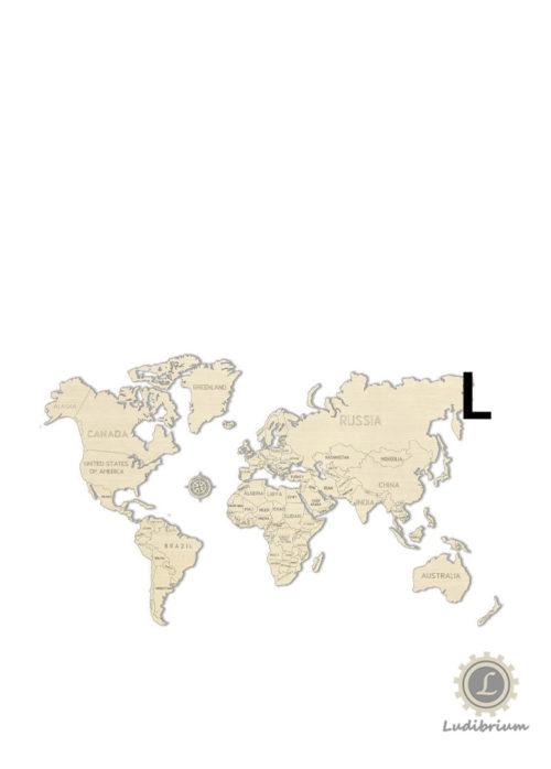 Wooden.City - World Map L - Holzbausatz