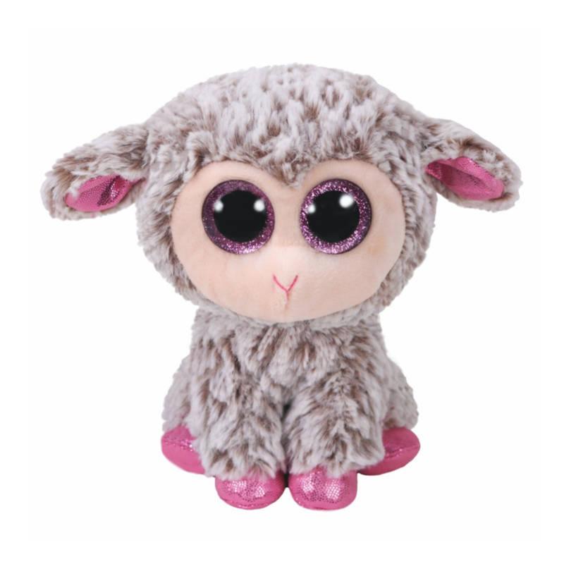 Ludibrium-Beanie Boos - Dixie Lamm grau pink klein