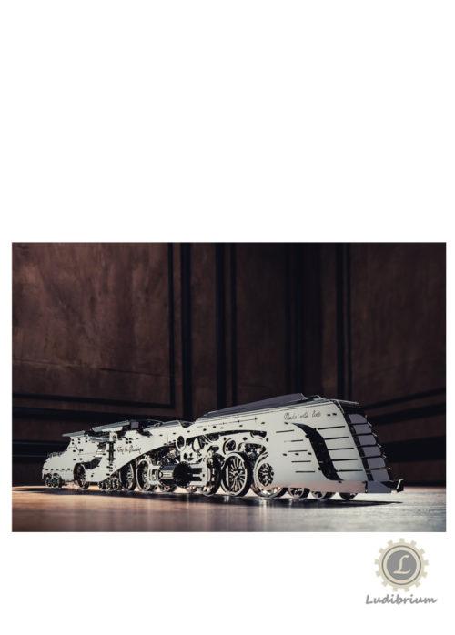 Time4Machine - Dazzling Steamliner Dampflokomotive - Metallbausatz