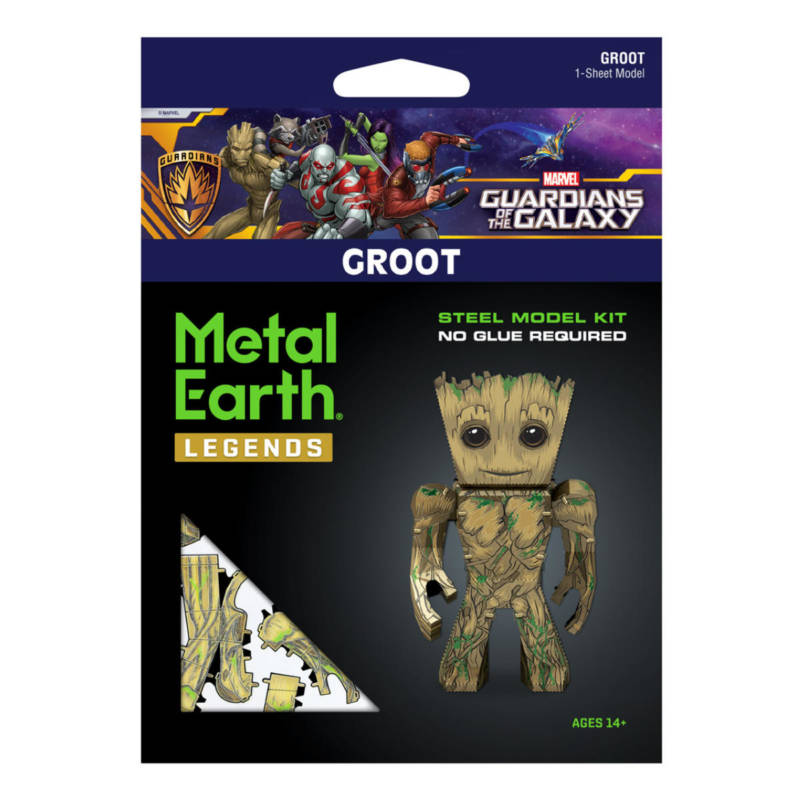Ludibrium-Metal Earth - Guardians of the Galaxy Groot