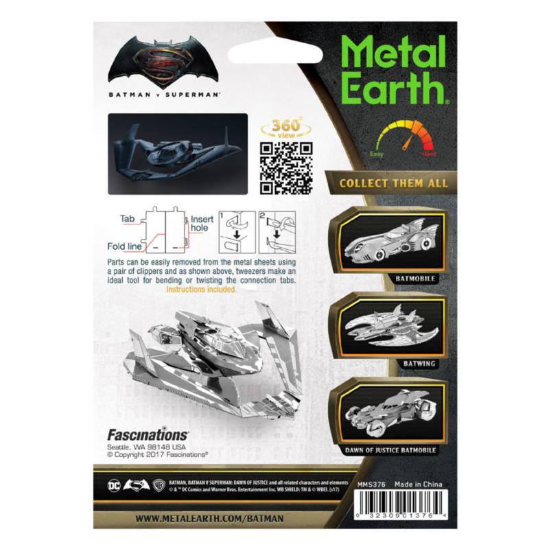 Ludibrium-Metal Earth 502760 - Batman vs Superman Batwing MMS376