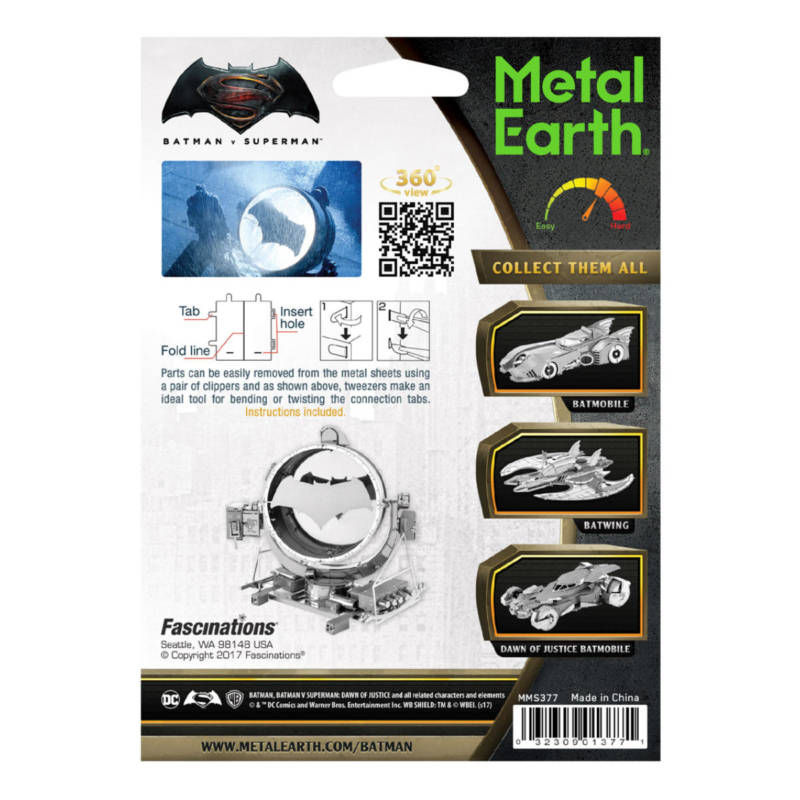 Ludibrium-Metal Earth 502762 - Batman vs Superman Bat-Signal MMS377