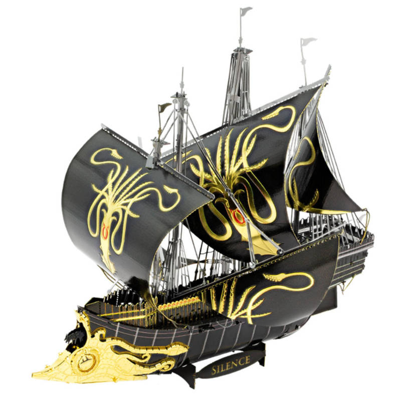 Ludibrium-Metal Earth 502984 - Iconx Game of Thrones: Greyjoy Ship Silence ICX126