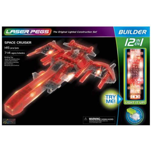 Ludibrium-Laser Pegs - 12 in 1 Space Cruiser - Klemmbausteine