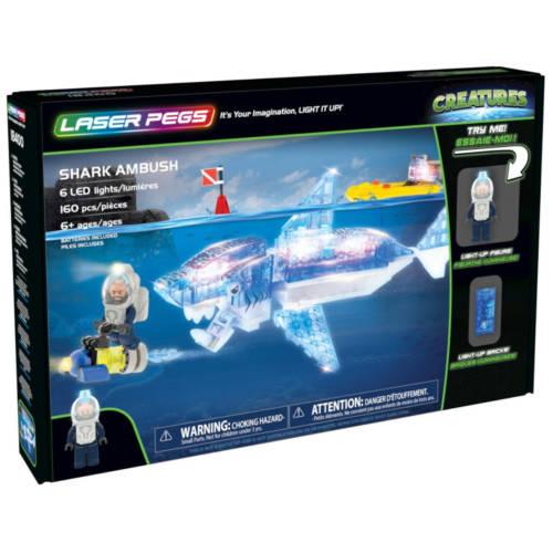Ludibrium-Laser Pegs - Creatures - Shark Ambush - Klemmbausteine