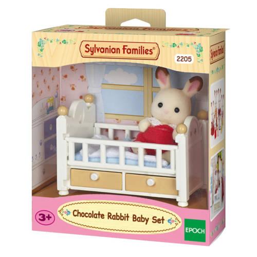 Ludibrium-Sylvanian Families 2205 - Chocolate Rabbit Baby Set