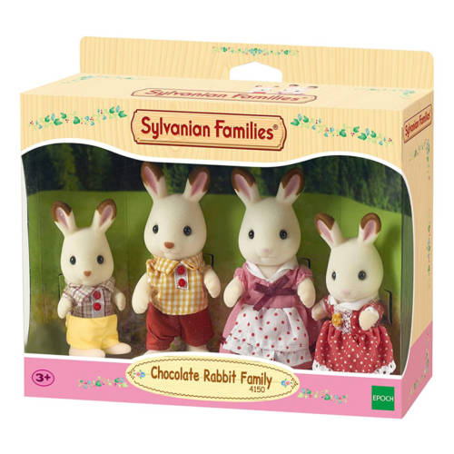 Ludibrium-Sylvanian Families 3125 - Chocolate Rabbit Family
