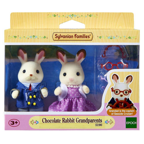 Ludibrium-Sylvanian Families 5190 - Chocolate Rabbit Grandparents