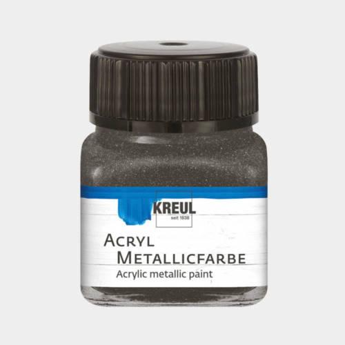 Ludibrium-KREUL - Acryl Metallicfarbe Anthrazit 20 ml