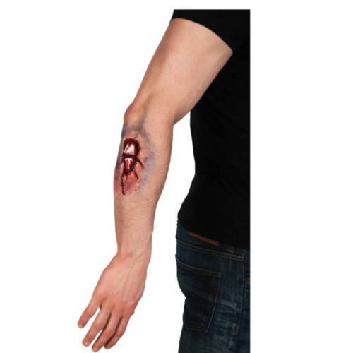 Ludibrium-Boland - Fake Wunde Knochenbruch Latex rot / weiß