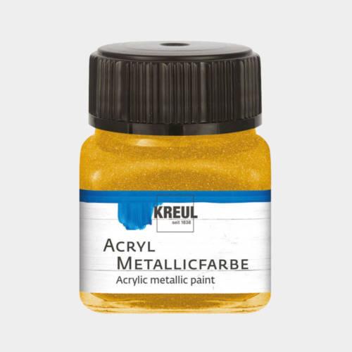 Ludibrium-KREUL - Acryl Metallicfarbe Gold 20 ml