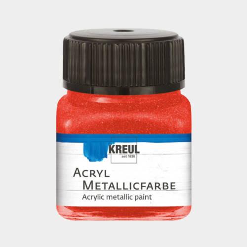 Ludibrium-KREUL - Acryl Metallicfarbe Rot 20 ml