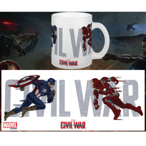 Ludibrium-Captain America - Civil War Tasse Running To Battle