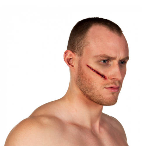 Ludibrium-Boland - Fake Schnittwunde Latex rot / pink