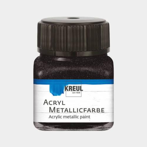 Ludibrium-KREUL - Acryl Metallicfarbe Schwarz 20 ml
