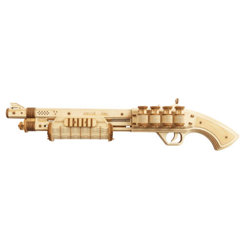 Ludibrium-ROKR - Terminator M870 - 3D Holzbausatz / Holzmodell mit Getriebe