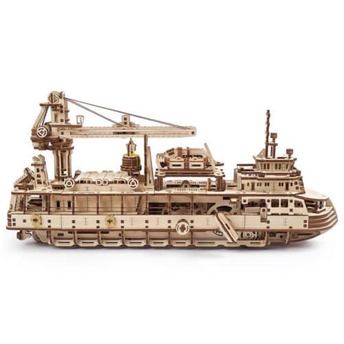 Ludibrium-UGEARS 70135 - Forschungsschiff - 3-D Holzspielzeug