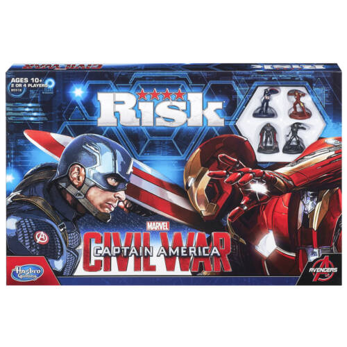 "Ludibrium-Captain Amerika - Brettspiel Risk - ""Englische Version"" Civil War Edition"