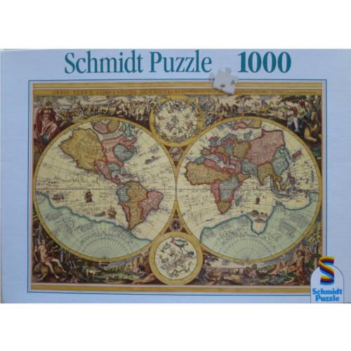 Ludibrium-Schmidt Spiele Puzzle - Historische Weltkarte - 1000 Teile