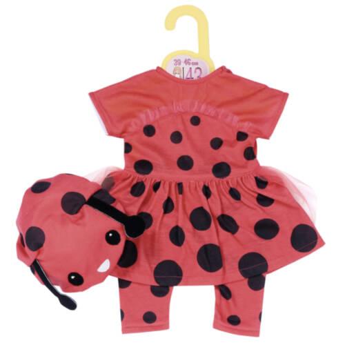 Ludibrium-Zapf Création - BABY born - Dolly Moda Marienkäfer Outfit 39-46 cm