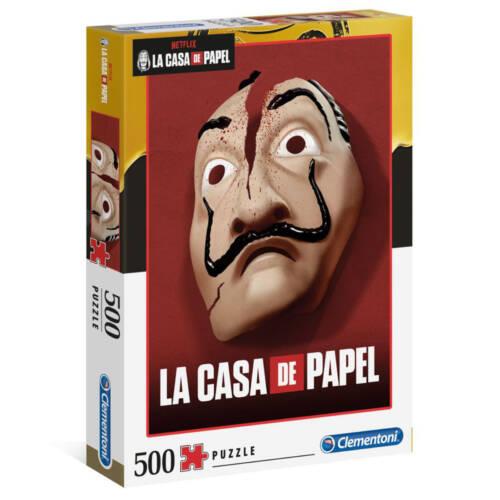 Ludibrium-Clementoni - Haus des Geldes Puzzle Maske - 500 Teile
