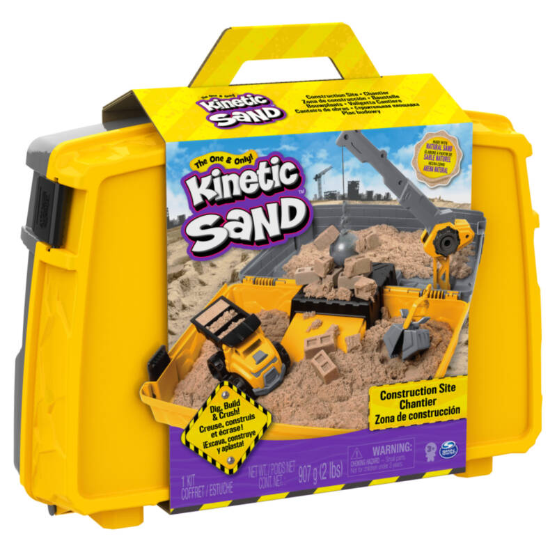 Ludibrium-Spinmaster - Kinetic Sand Construct. Box 907g