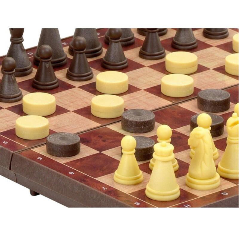 Ludibrium-Cayro the Games - Reisespiel Schach und Dame - magnetisch