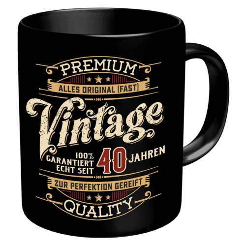 Ludibrium-RAHMENLOS® - Kaffeebecher zum 40. Geburtstag - Vintage 40