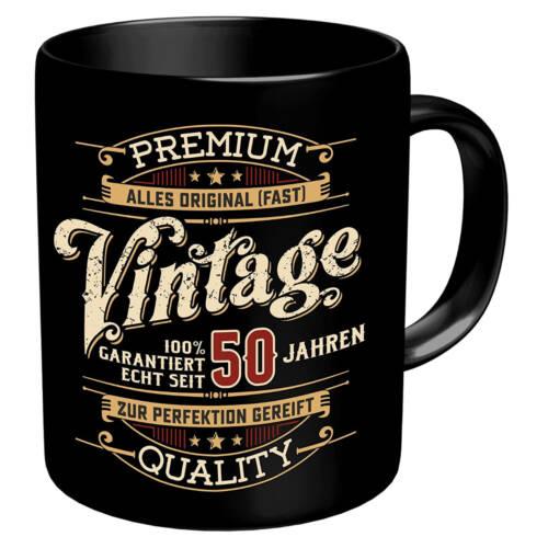 Ludibrium-RAHMENLOS® - Kaffeebecher zum 50. Geburtstag - Vintage 50