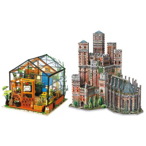 3D Puzzle und Mini Häuser aus Holz
