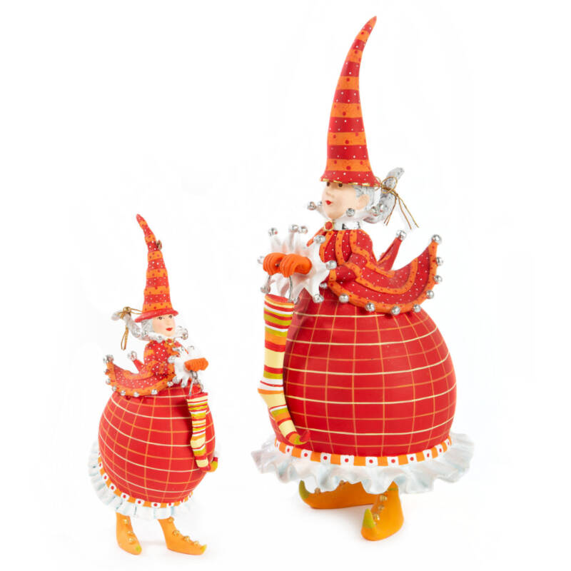 Ludibrium-Krinkles - Dash Away - Red Mrs. Santa Ornament