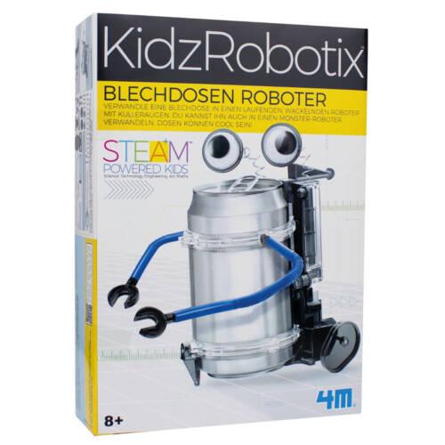 Ludibrium-4M KidzRobotix - Bastelset - Blechdosen Roboter