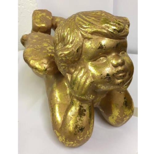 Ludibrium-Goldener Engel aus Gips liegend