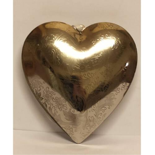 Ludibrium-Baumschmuck - Dekoartikel - silbernes Herz klein aus Metall