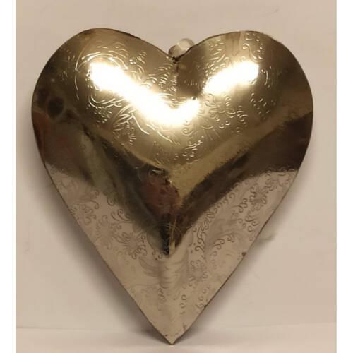 Ludibrium-Baumschmuck - Dekoartikel - silbernes Herz mittel aus Metall