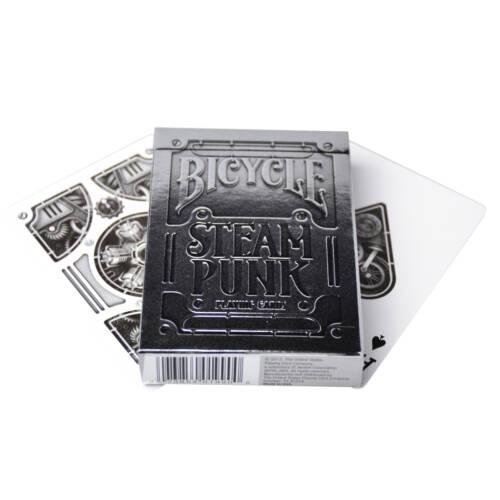 Ludibrium-Spielkarten Silver Steampunk-Bicycle Premium